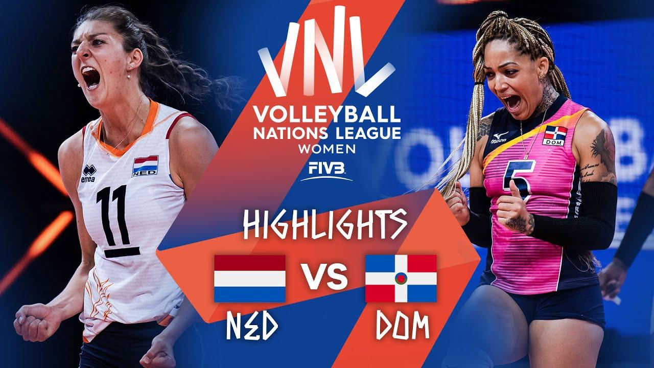 Download NED vs. DOM - Highlights Week 4 | Women's VNL 2021