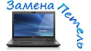 Фото Замена петель на ноутбуке Lenovo G565   разборка ноутбука Lenovo G565