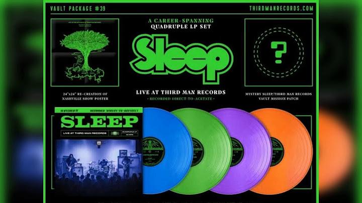 sleep live at third man records vinyl rip