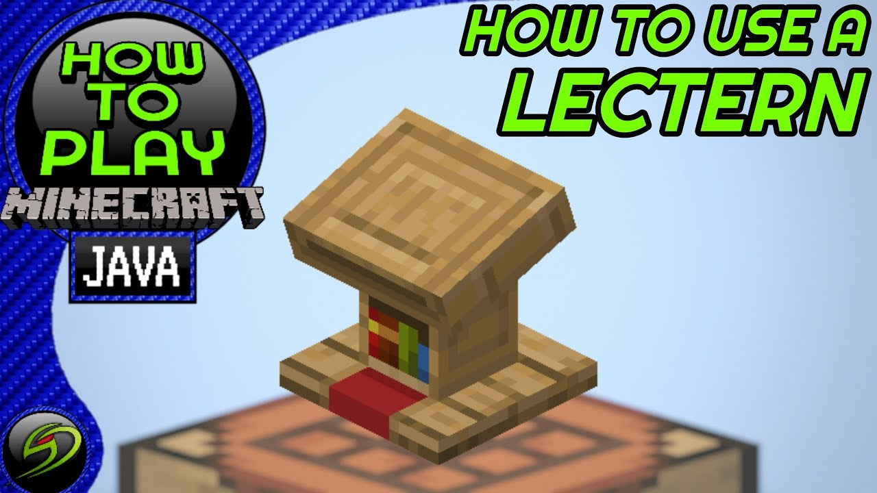 How To Use A Lectern In Minecraft Java Edition Youtube