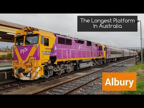Sydney Trains Vlog 1582: Albury - The Longest Platform In Australia