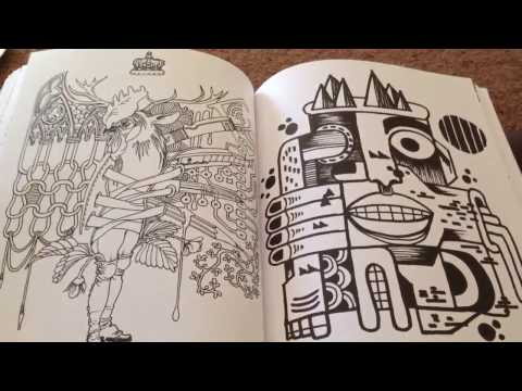 My favourite coloring book plus tips and finished pages