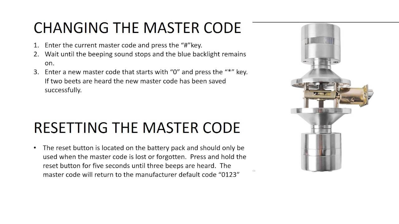Part 3 How To Reset The Master Code Digital Electronic