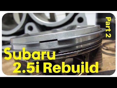2007 Subaru Impreza 2.5i SOHC Rebuild - Part 2 - Pistons Cylinders and How To Piston Ring Gap