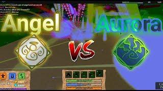 ANGEL vs AURORA!!!  Roblox Elemental Battlegrounds