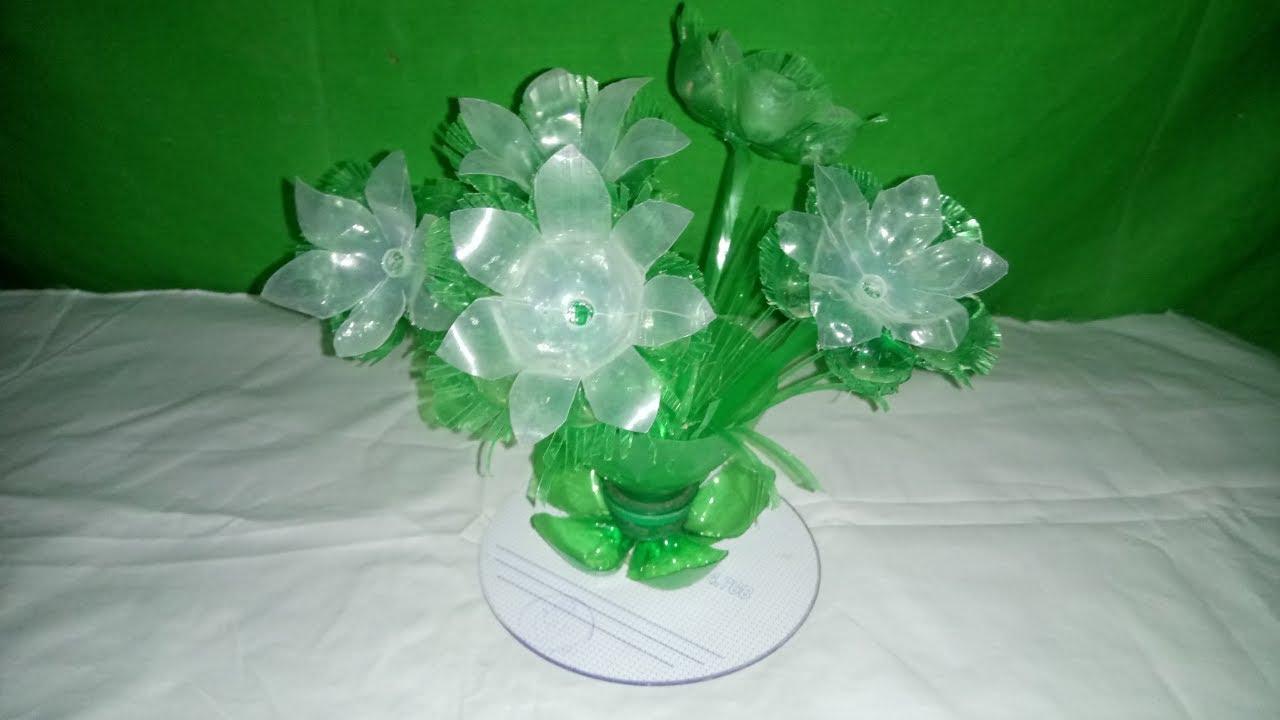 Easy Plastic Bottle Flower How To Make Wonderful Flower From Plastic Bottle Vase Recycle Vase