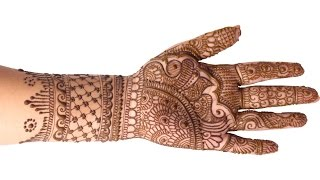 Simple Stylish Mehndi Design - Step by Step Tutorial