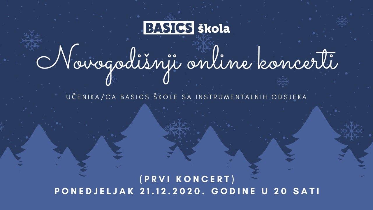 Novogodišnji online koncerti Basics škole (LIVE STREAM)