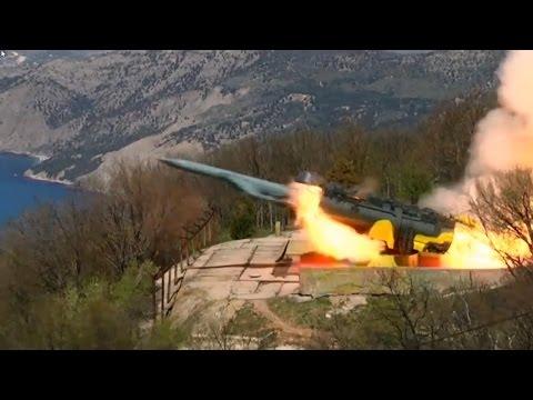 Севастополь - боевая стрельба ракетного комплекса «Утёс» ЧФ
