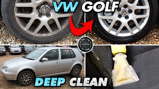 Deep Cleaning a VW Golf 18 year old Disaster detail Dirty/Filthy Car