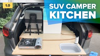 DIY Car camping kit¢hen box for SUV or Minivan - easy setup, organization ideas and hacks