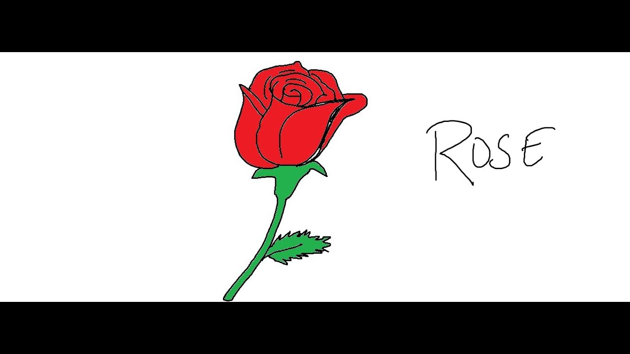 Easy Kids Drawing Lessons:How to Draw an Easy Rose - YouTube