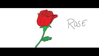 rose easy drawing draw
