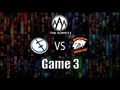 Dota 2: The Summit 4 Grand final - Virtus.pro vs Evil Geniuses (Game 3)