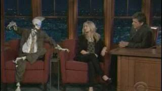 Kristen Bell Late Late Show with Robot Sidekick