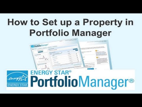 How to Set up a Property in Portfolio Manager®