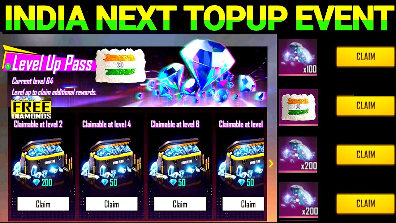 Free Fire New Event   Free Fire Next TopUp Event India Server 2021 August   Free Fire Upcoming TopUp