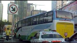 ARANETA CENTER TEMPORARY BUS TERMINAL Cubao Quezon city philippines