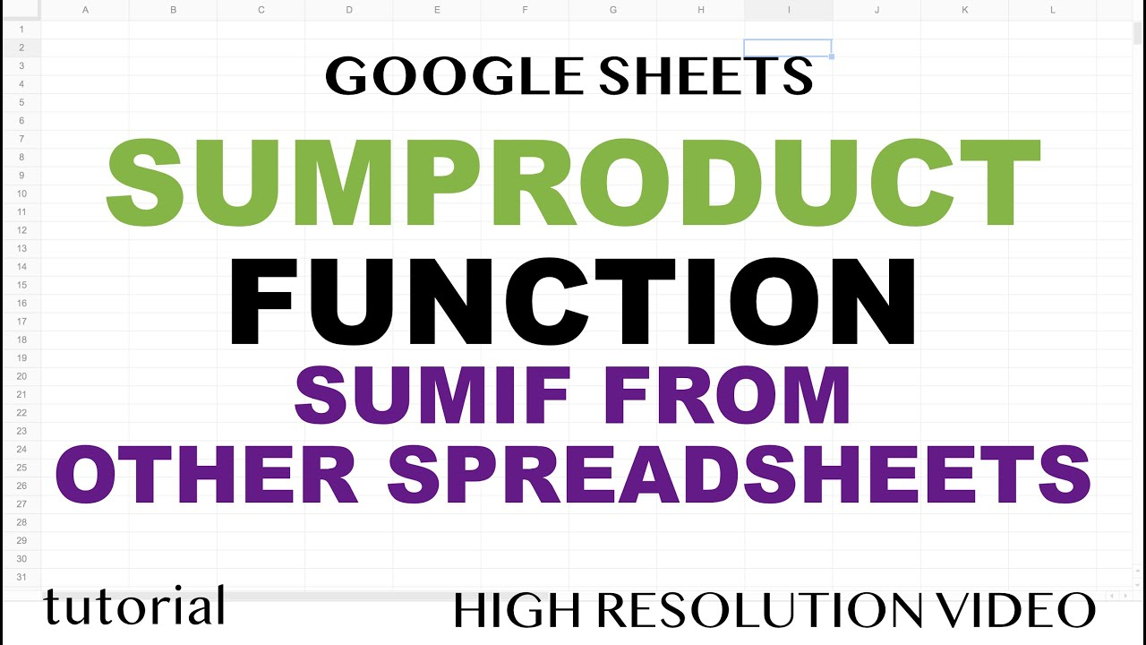 Learn how SUMPRODUCT function works in Google Sheets