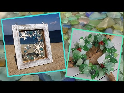 Sea Glass Crafts Ideas  Decorating with sea glass