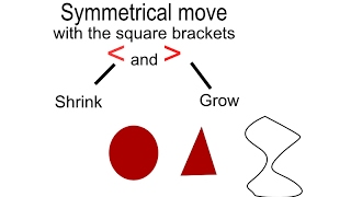 Inkscape - grow, shrink, move proportionally and symmetrically with the square brackets