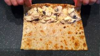 Chicken Roll Up With Low Calories Flat Bread From Damascus Bakeries Flatbread Company