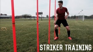 Drill of The Week #1 | Triple Threat Striker Drill | Sharp Movement and Clinical Finishing Drill