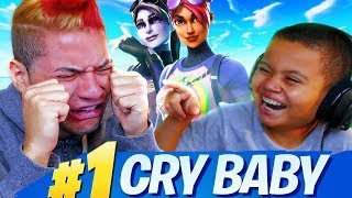 MINDOFREZ EXPOSED!! LITTLE BROTHER MAKES HIM CRY OVER FORTNITE BATTLE ROYALE *TROLLING*