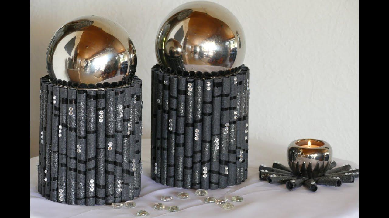 basteln mit papier oder tapete wohnraumdeko teelicht doovi. Black Bedroom Furniture Sets. Home Design Ideas