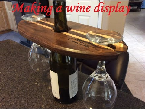Making a wine/glass centerpiece