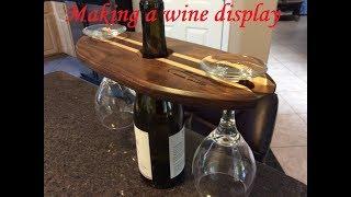 Making a wine/glass centerpiece
