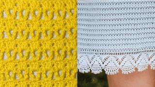 Узор для юбки крючком, схема