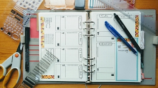 plan with me    weekly spread    filofax a5 bullet journal