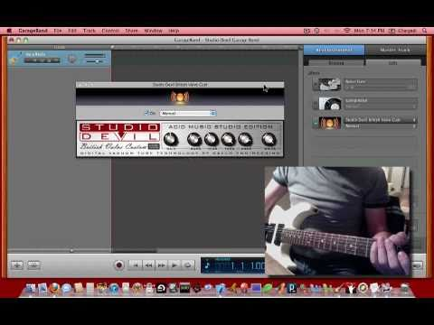 studio devil guitar amp modeling plug ins with garageband youtube. Black Bedroom Furniture Sets. Home Design Ideas