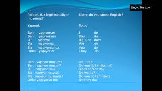 Turkish language. Lesson 1