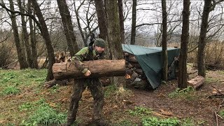SOLO STORMY CAMPING SOME BUILDING AND RAISED PLATFORM FIRE PIT