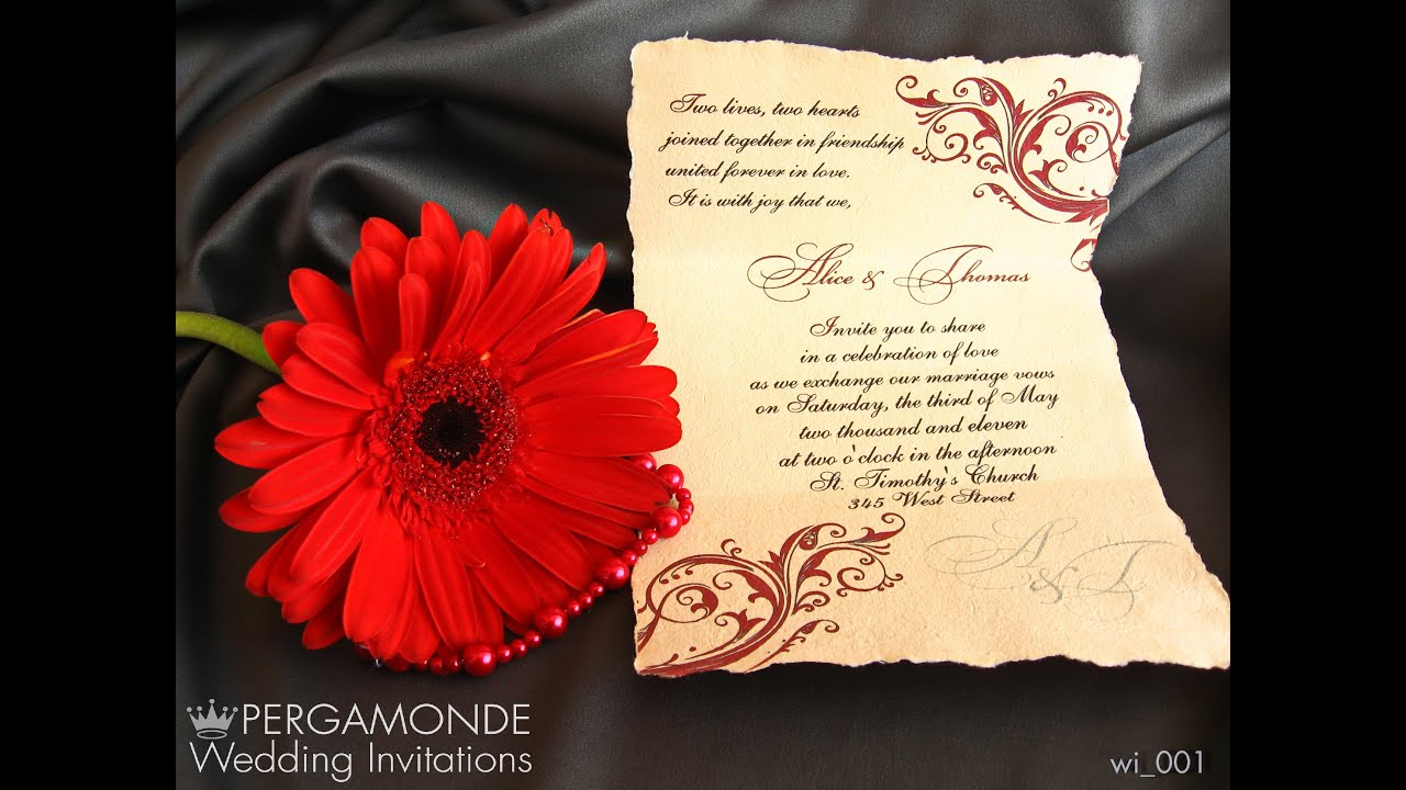 Wedding Invitations by Pergamonde - YouTube