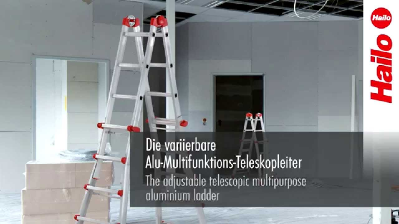 Quadfactory bottrop craftworx alu teleskopleiter mit soft close