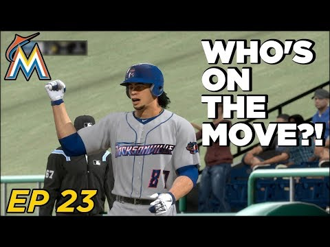 MLB The Show 18 Franchise - Miami Marlins | Trade Deadline Trades! Retooling the Farm! EP 23