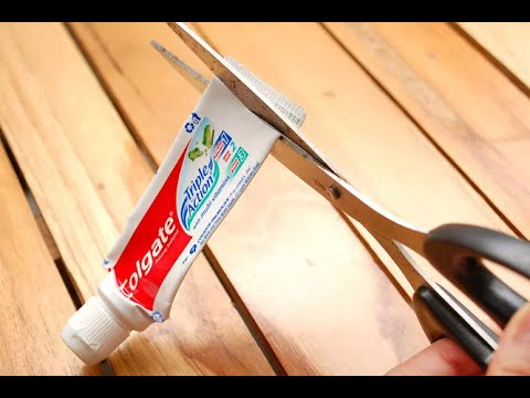 HOW TO MAKE a REUSABLE Toothpaste Tube
