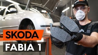 rear and front Disk pads installation SKODA FABIA: video manual