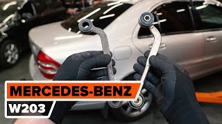 Kuinka vaihtaa takaalatukivarsi MERCEDES-BENZ W203 C-sarja -merkkiseen autoon [AUTODOC -OHJEVIDEO]