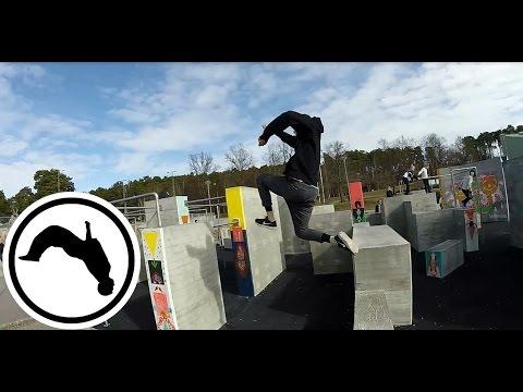 Södertälje Parkourpark - Freerunning Sweden - VLOG