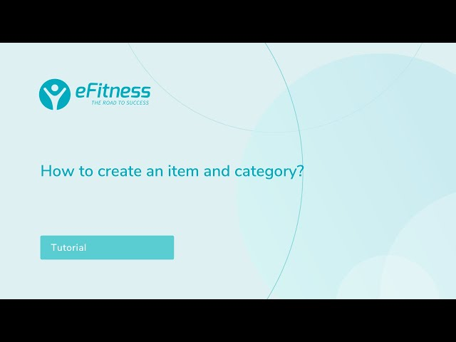 How to create an item and category