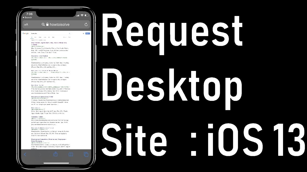 How To Request Desktop Site On Iphone Ipad In Ios 13 Safari Missing After Update Youtube