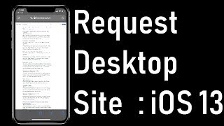 Download How to Request Desktop Site on iPhone & iPad in iOS 13 Safari: Missing After Update Mp3 and Videos