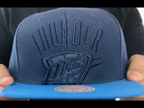 official photos 3dd69 7e6c8 Thunder  CROPPED SATIN SNAPBACK  Navy-Blue Adjustable Hat by Mitchell and  Ness