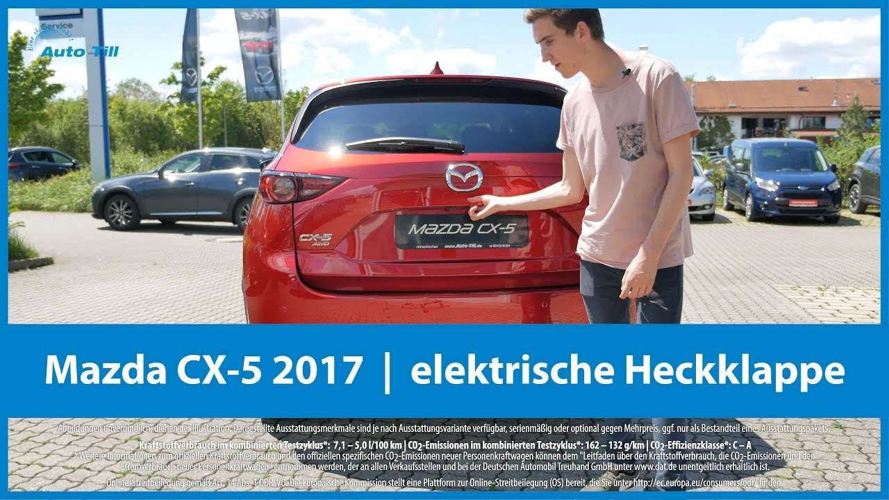 mazda cx-5 2017 | elektrische heckklappe & kofferraum 4k (uhd) - youtube