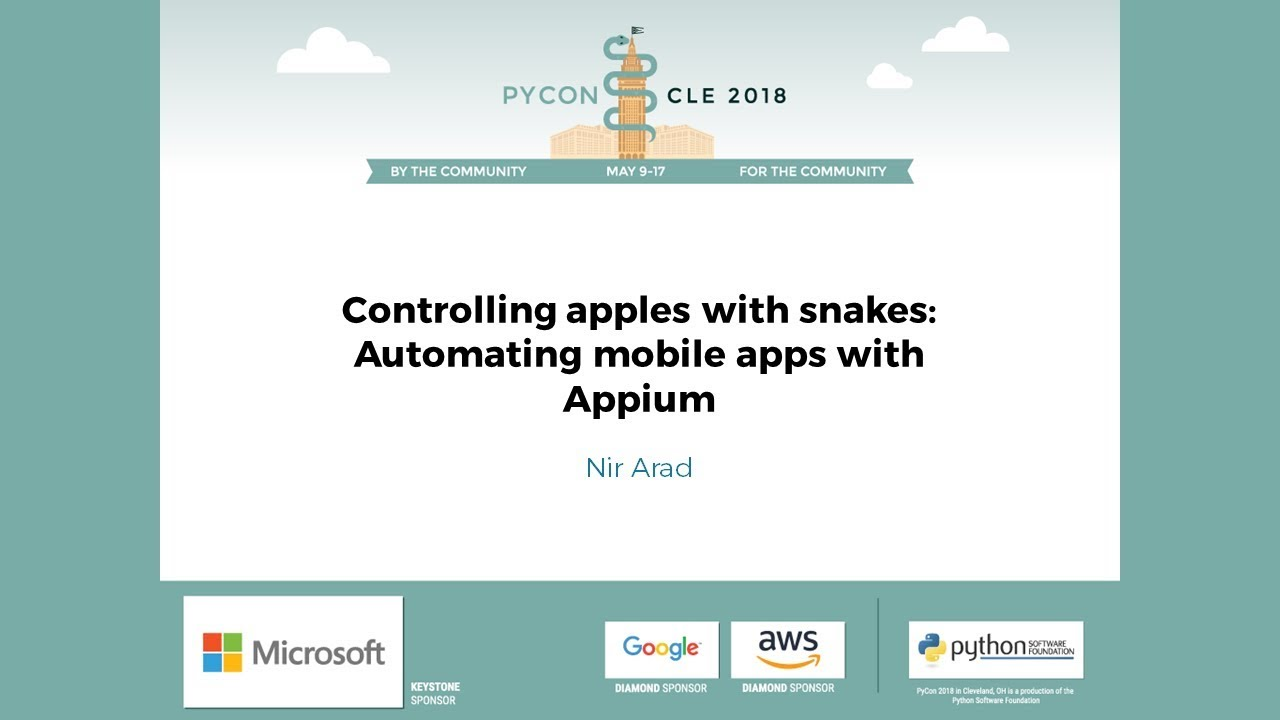 Image from Controlling apples with snakes: Automating mobile apps with Appium