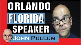 Jennifer needs a motivational speaker in Orlando, Florida. John Pullum answers her question.